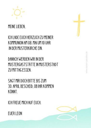 Ansicht 3 - Kommunion Einladung Modern