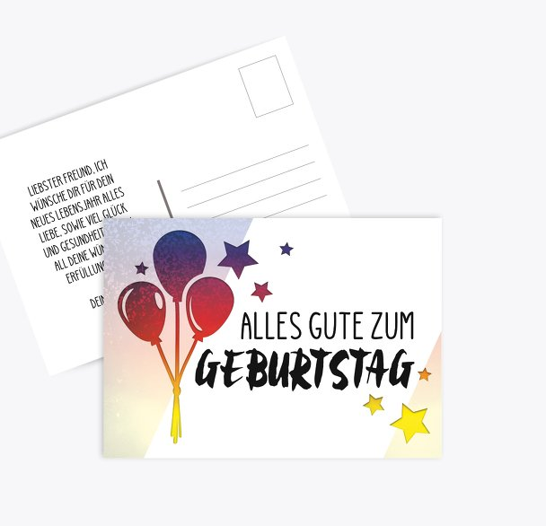 Glückwunschkarte zum Geburtstag Ballon