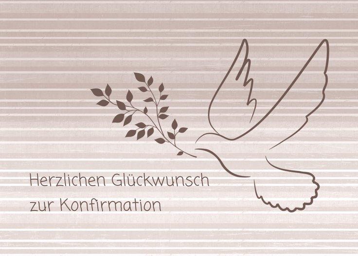 Ansicht 2 - Glückwünsche zur Konfirmation Taube 2