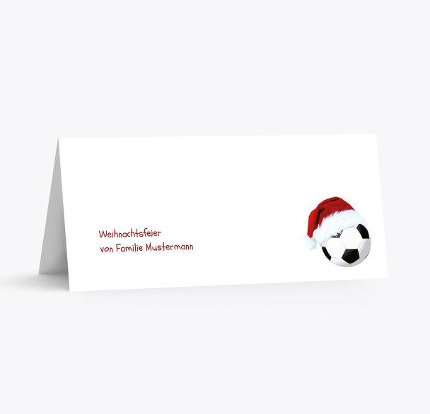 Tischkarte Fußballmütze
