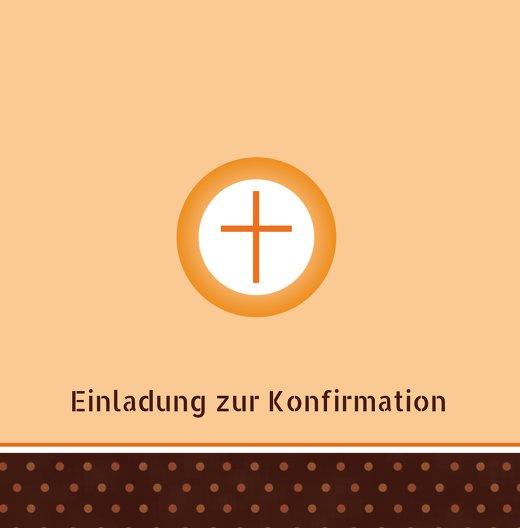 Ansicht 3 - Konfirmation Einladungskarte Kreuzhostie