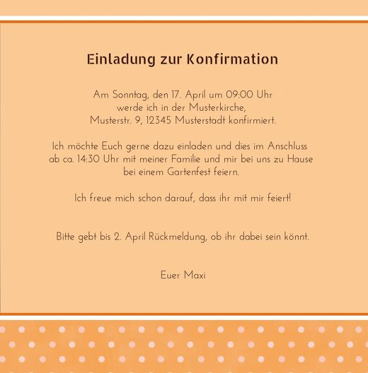 Ansicht 5 - Konfirmation Einladungskarte Kreuzhostie