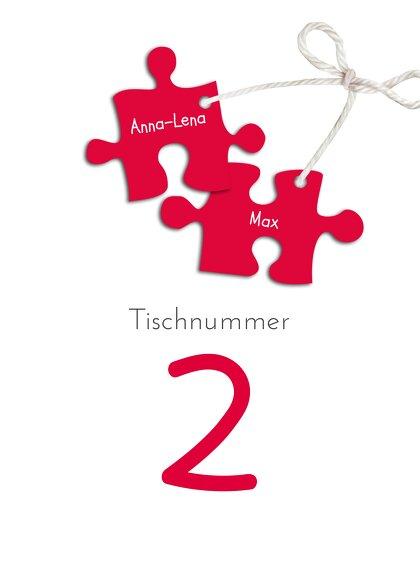 Ansicht 2 - Tischnummer Puzzleteile