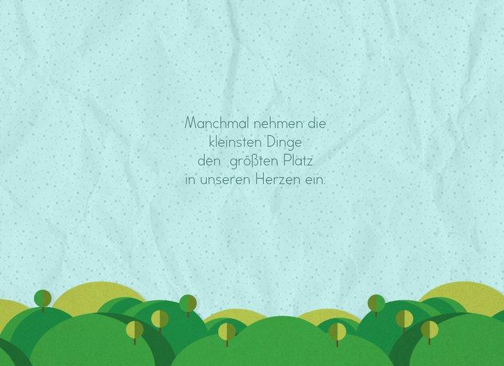 Ansicht 4 - Glückwunschkarte zur Geburt Sommerlandschaft