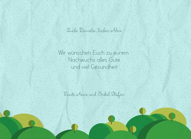 Ansicht 5 - Glückwunschkarte zur Geburt Sommerlandschaft