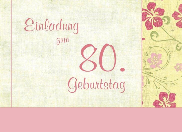 Ansicht 3 - Einladung zum Geburtstag Foto Hibiskus 80