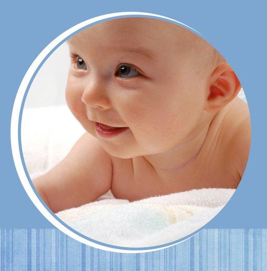Ansicht 4 - Babykarte Streifentapete
