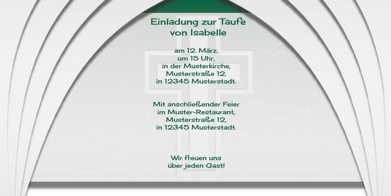 Ansicht 5 - Taufkarte gotischer Bogen