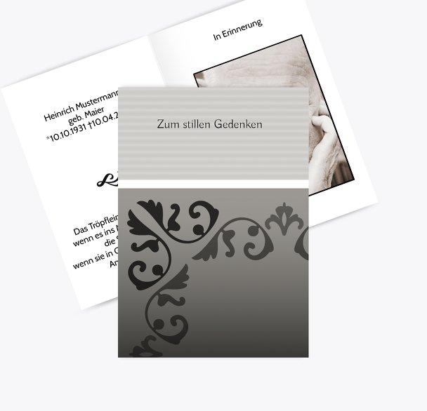 Sterbebildkarte Briefpapier
