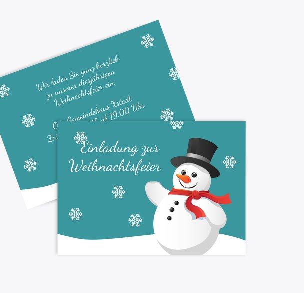 Einladung Schneemann