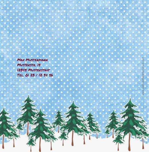 Ansicht 2 - Foto Einladung Schneewald