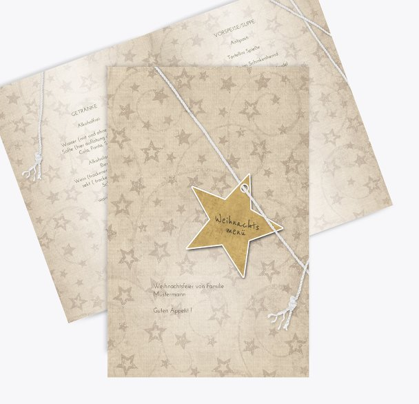 Menükarte Sternenschnur