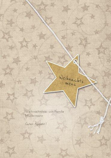 Ansicht 3 - Menükarte Sternenschnur