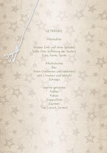 Ansicht 4 - Menükarte Sternenschnur