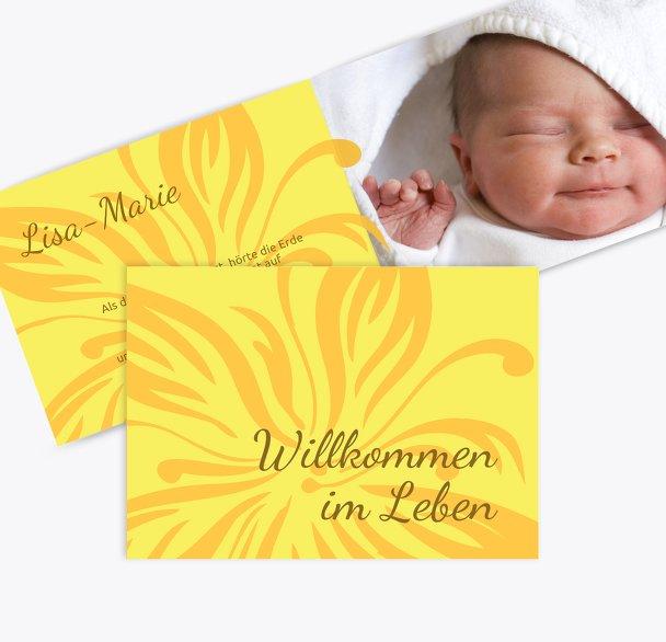 Geburtskarte Blume