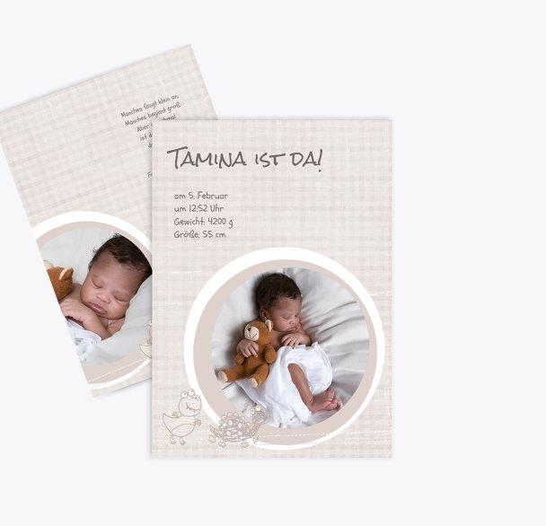 Geburtskarte Schildi