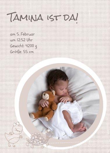 Ansicht 2 - Geburtskarte Schildi