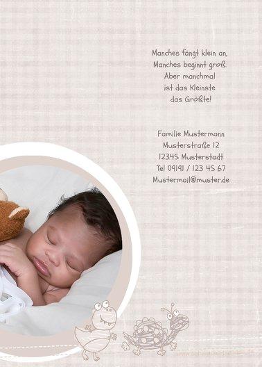 Ansicht 3 - Geburtskarte Schildi