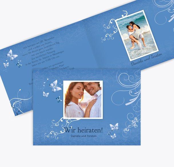 Hochzeit Einladung butterfly
