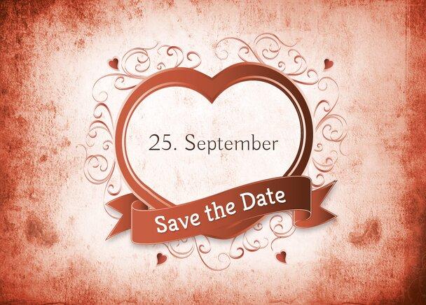 Ansicht 2 - Hochzeit Save-the-Date Herz