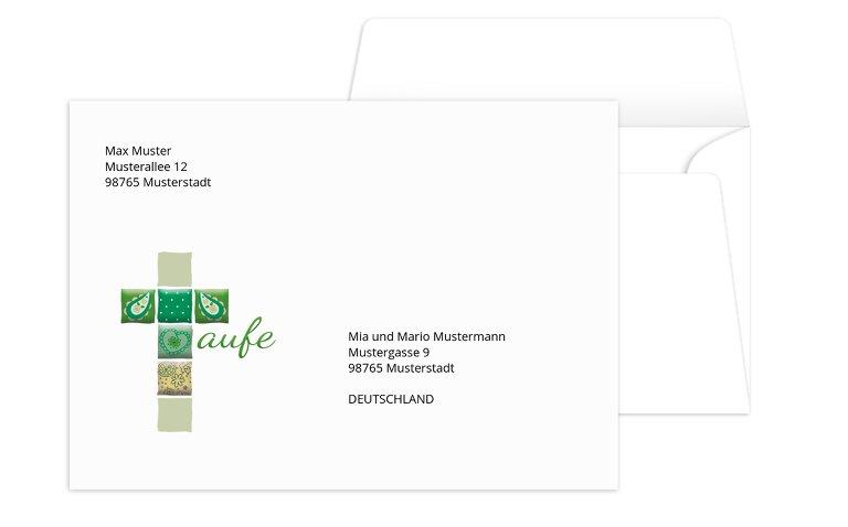 Umschlag Florales Kreuz