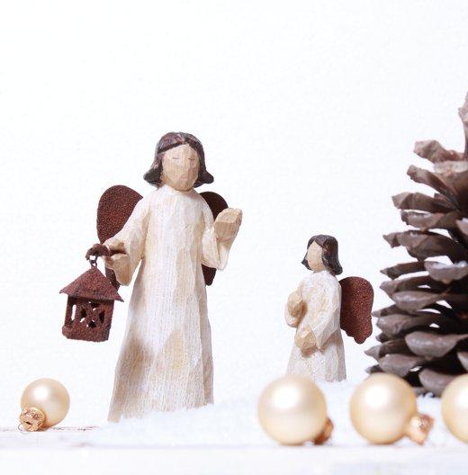 Ansicht 3 - Foto Grußkarte Weihnachtsengel