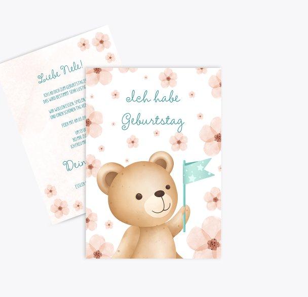 Einladung Kindergeburtstag Teddytastisch