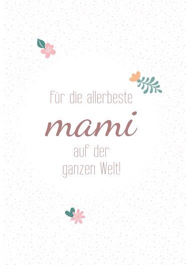 Ansicht 3 - Muttertagskarte Blumenkreis