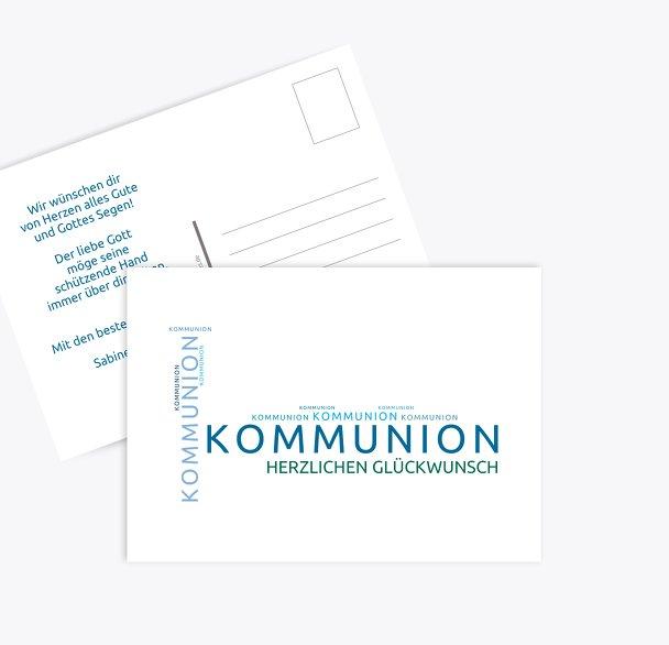 Glückwünsche zur Kommunion Script