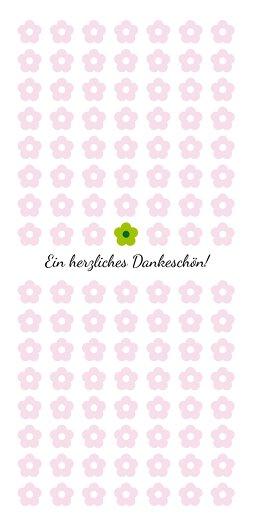 Ansicht 3 - Baby Dankeskarte Blumentapete