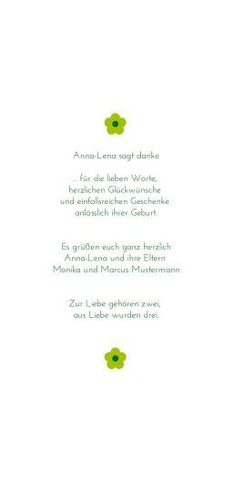 Ansicht 5 - Baby Dankeskarte Blumentapete