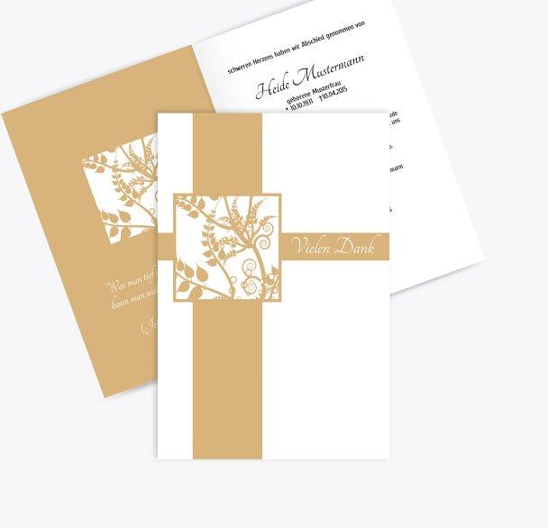 Dankeskarte Florales Quadrat