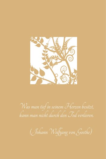 Ansicht 4 - Dankeskarte Florales Quadrat