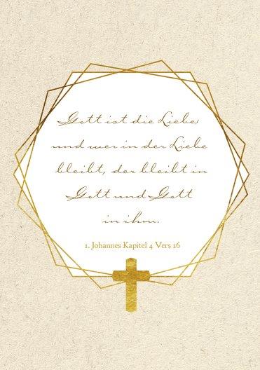 Ansicht 4 - Konfirmation Dankeskarte Goldrausch