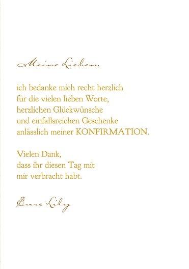 Ansicht 5 - Konfirmation Dankeskarte Goldrausch