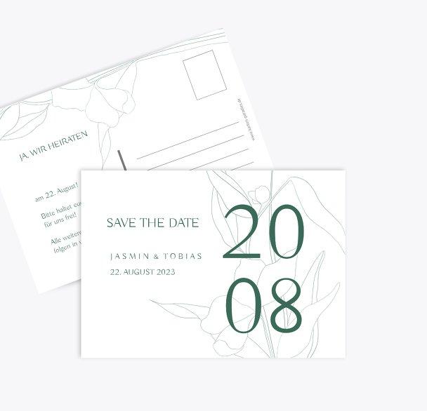 Hochzeitskarten_Save_The_Date Zahrte Blume