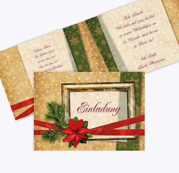 Einladung Goldenes Geschenk
