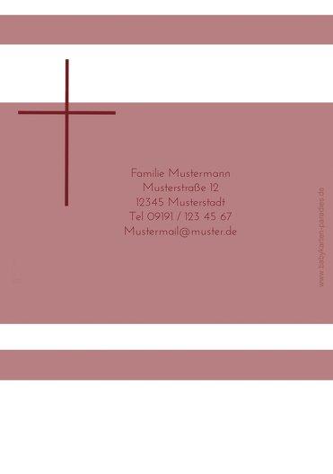 Ansicht 2 - Kommunionskarte Kreuz
