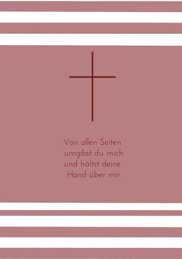 Ansicht 4 - Kommunionskarte Kreuz