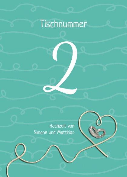 Ansicht 2 - Tischnummer erfüllte Liebe