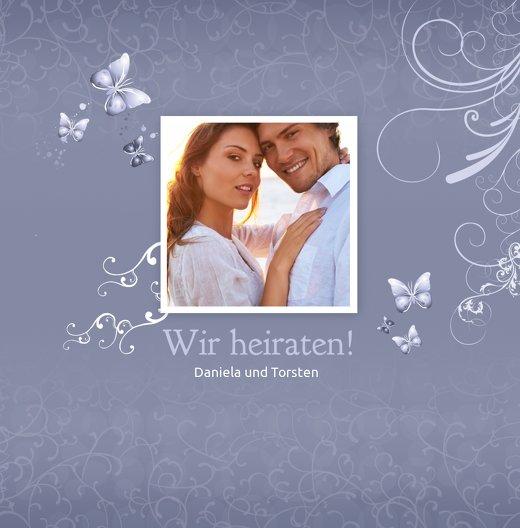 Ansicht 3 - Hochzeit Einladung butterfly
