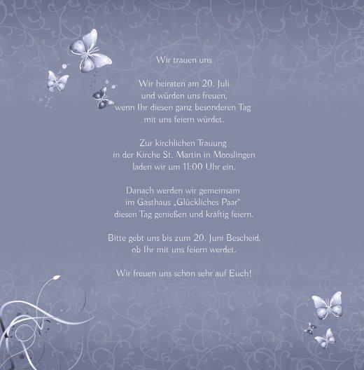 Ansicht 4 - Hochzeit Einladung butterfly