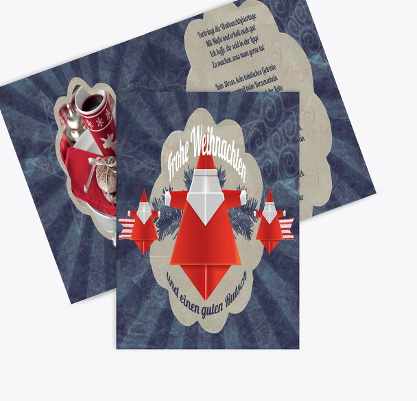 Foto Grußkarte Origami