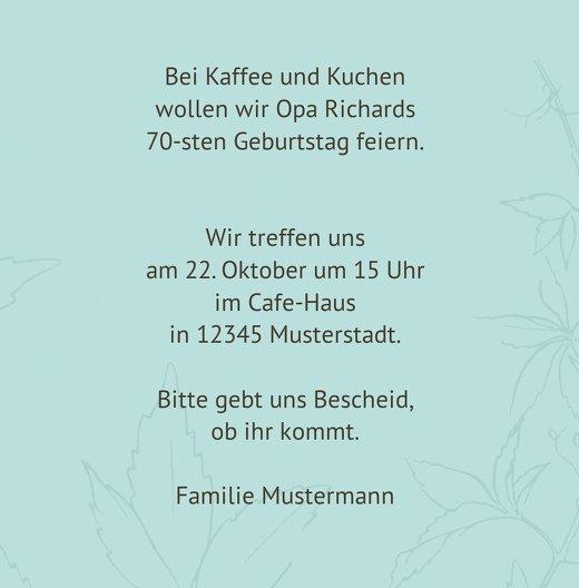 Ansicht 5 - Einladung Herbst 70 Foto