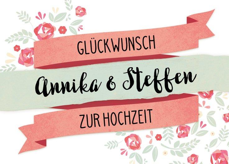 Ansicht 2 - Glückwunschkarte zur Hochzeit Banner