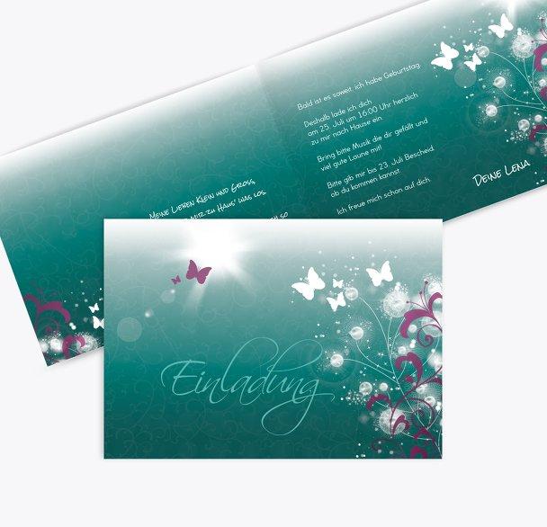 Einladungskarte zum Geburtstag beautiful