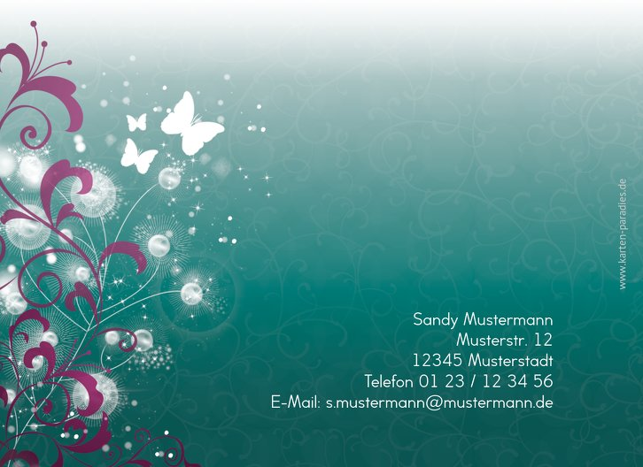Ansicht 2 - Einladungskarte zum Geburtstag beautiful