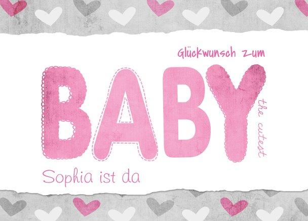 Ansicht 2 - Glückwunschkarte zur Geburt Cute Baby