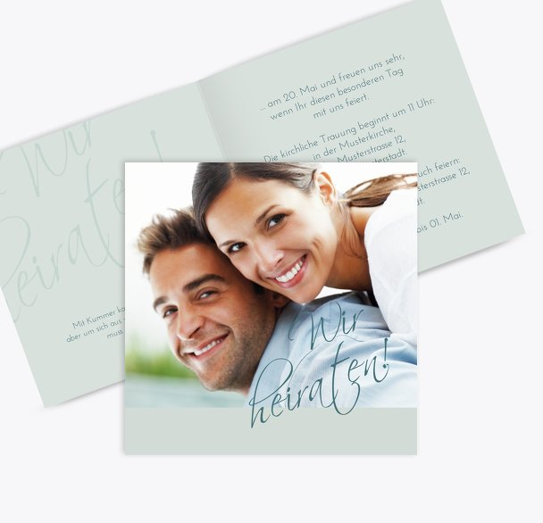 Hochzeit Einladung Liebesbotschaft