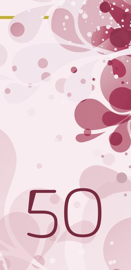 Ansicht 3 - Einladungskarte Flora 50